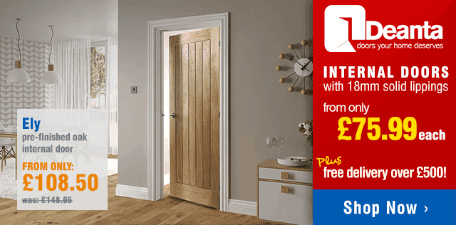 Deanta Internal Oak Doors from only