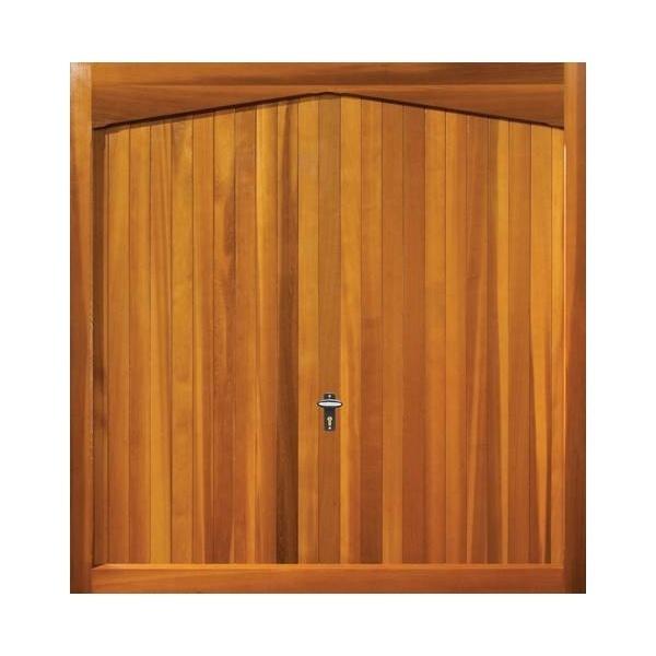 Sheringham Timber Up & Over Garage Door Light Oak Finish