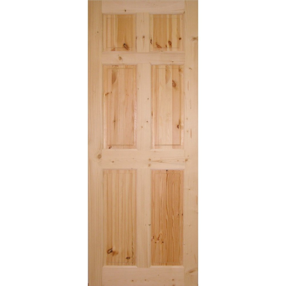Wooddoor internal knotty pine 6 panel door wooddoor for 6 panel doors