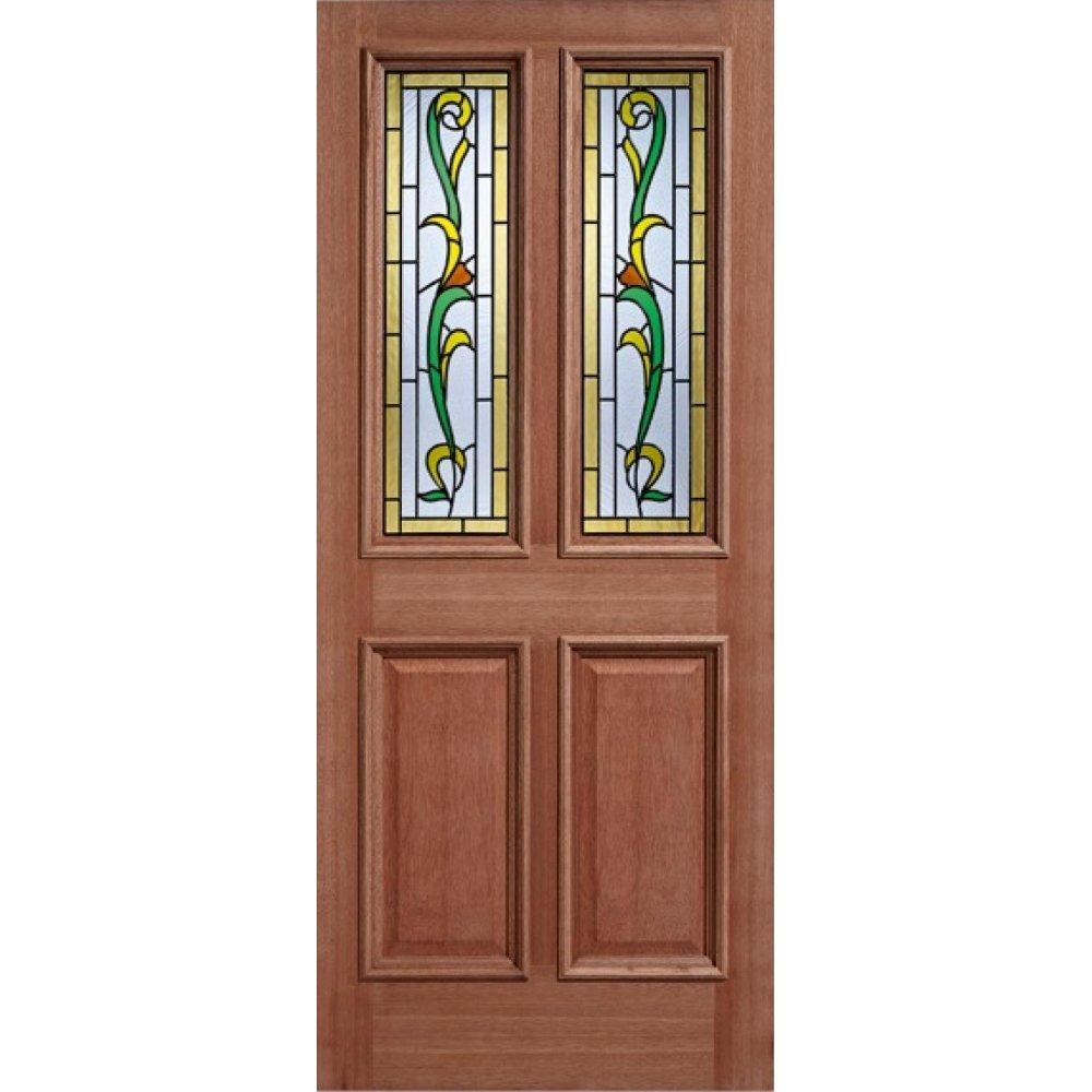 External hardwood double glazed chelsea door from leader doors for Hardwood entrance doors