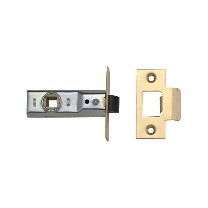 Dale Hardware 100mm Polished Brass Tubular Mortice Latch