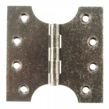 102mm (4'') Parliament Hinge Pair, Distressed Silver (APH424DS)