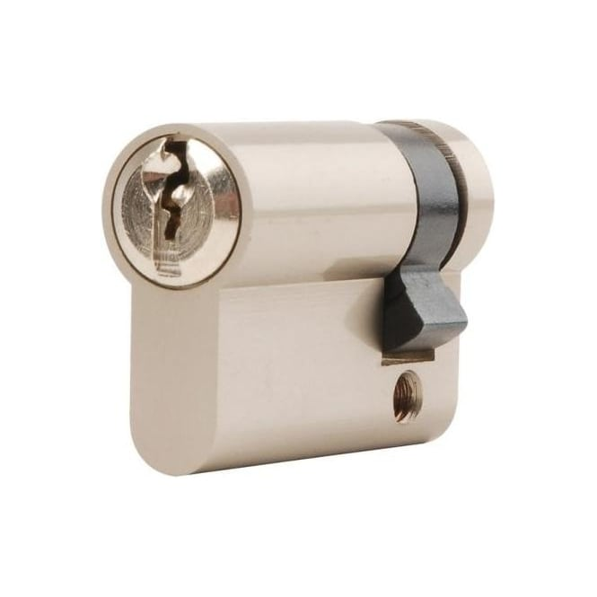 Dale Hardware 45mm Nickel Plated Euro Single Cylinder