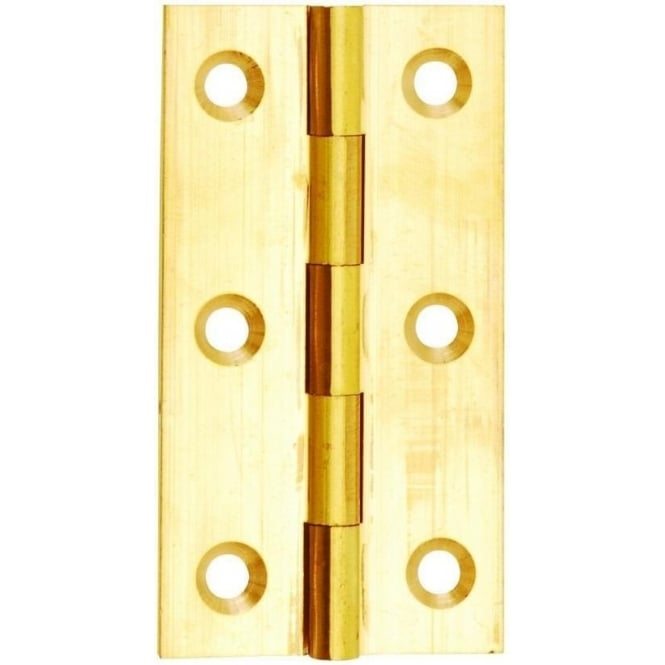 Dale Hardware 50mm Self Colour Brass Solid Drawn Butt Hinge (Pair)