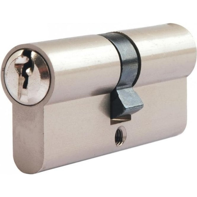 Dale Hardware 60mm Nickel Plated Euro Double Cylinder