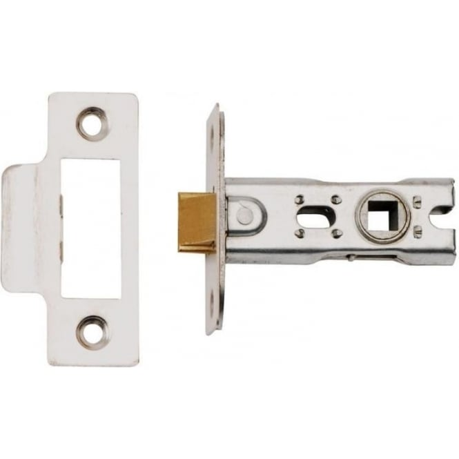 Dale Hardware 63mm Polished Steel Bolt Through Tubular Mortice Latch