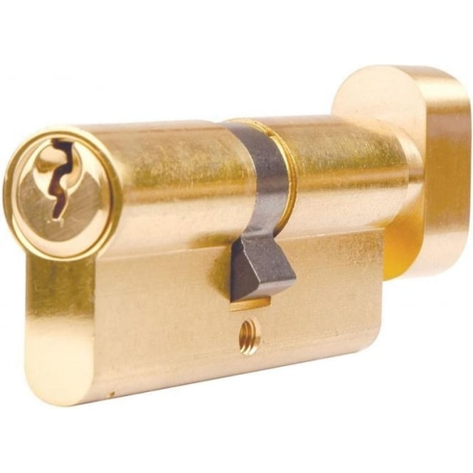 Dale Hardware 70mm Brass Euro Cylinder And Turn