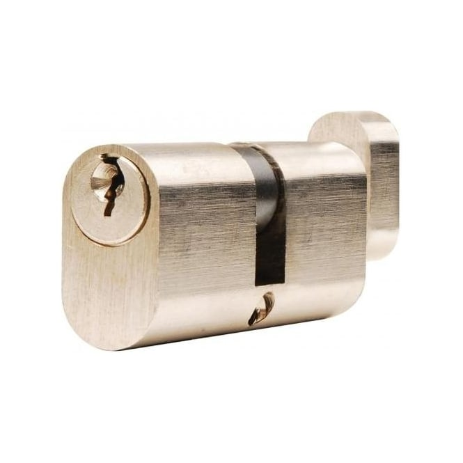 Dale Hardware 70mm Nickel Plated Oval Cylinder And Turn