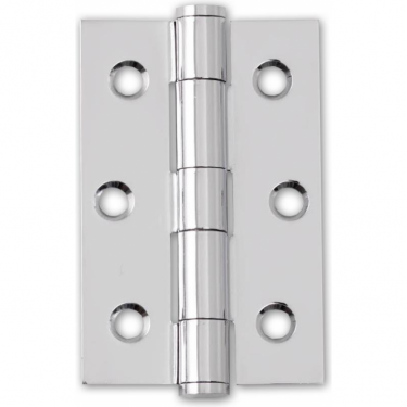 "75mm (3"") Button Tipped Hinge Pair, Polished Chrome (HST.75.CP.BT)"