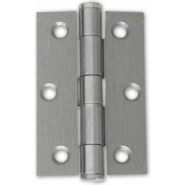"75mm (3"") Button Tipped Hinge Pair, Satin Chrome (HST.75.SC.BT)"