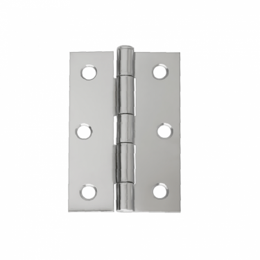 "75mm (3"") Loose Pin Butt Hinge Pair, Polished Chrome (HLP.75.CP)"