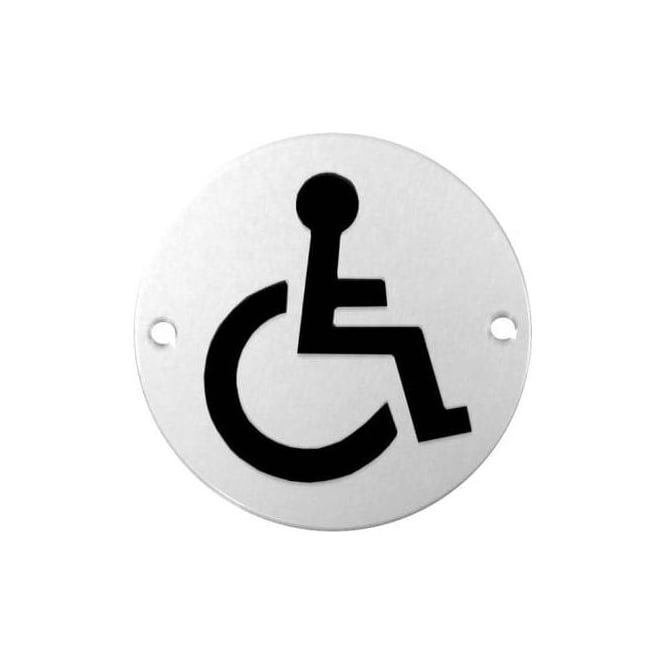 Dale Hardware 75mm Circular DISABLED Pictogram Disc