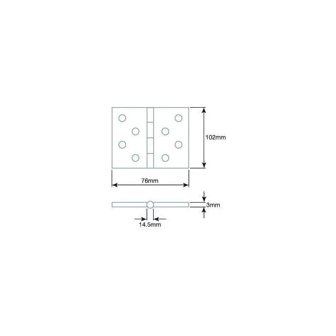 Frelan Hardware Satin Stainless Steel Ball Bearing Hinge J9500Sss