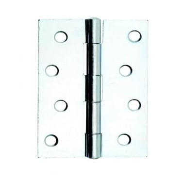 76mm (3'') Fixed Pin Butt Hinge Bright Zinc Plated (Pair) (DH001136)