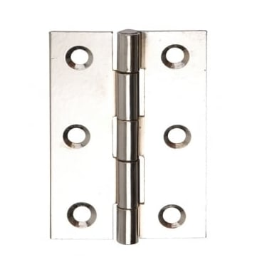 76mm (3'') Fixed Pin Butt Hinge Polished Chrome (Pair) (DH001128)