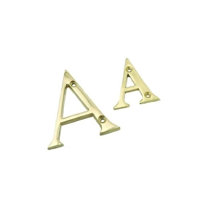 Dale Hardware 76mm Brass Letter 'A'