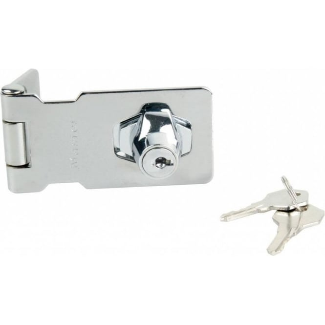 Dale Hardware 80mm Chrome Plated 4 Wafer Cylinder Locking Hasp