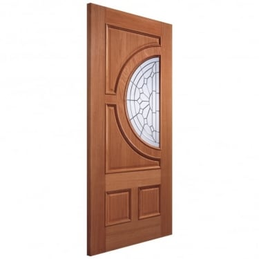 Adoorable Empress Unfinished External Hardwood Door with Zinc Clear Bevelled Double Glass