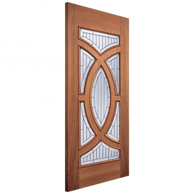 LPD Adoorable Majestic Unfinished External Hardwood Door with Zinc Clear Bevelled Double Glass