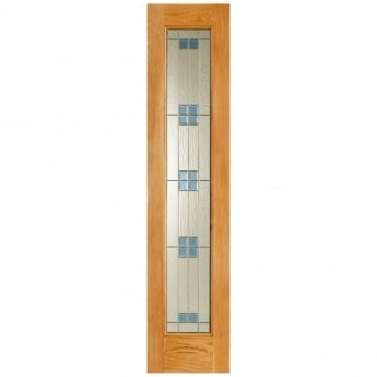 LPD Doors Adoorable Regal Unfinished External Oak Sidelight With Zinc Double Glazing