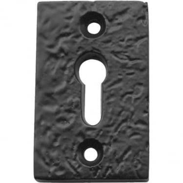 Antique Black Rectangular Key Escutcheon (JAB70)