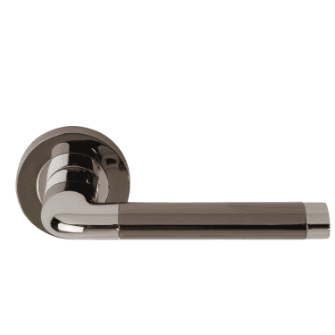 Argo Polished Chrome/Black Nickel Passage Lever On Round Rose (DH003570)