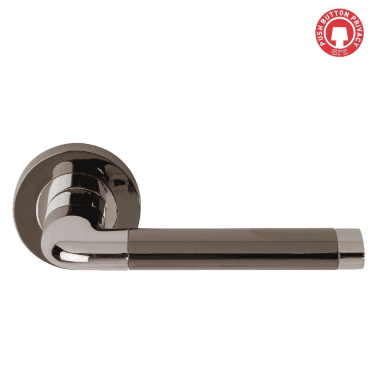 Argo Polished Chrome/Black Nickel Privacy Lever On Round Rose (DH003570-PRV)