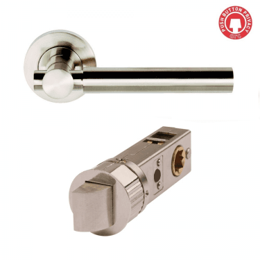 Astro Satin Nickel Smart Privacy Lever on Round Rose (DH003610-SMART-PRV)
