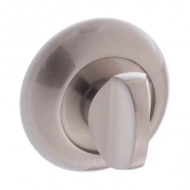Mediterranean WC Turn and Release On Round Curved Rose - Satin Nickel (MCWCSN)