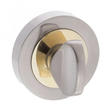 Status WC Turn and Release On Round Rose - Satin Nickel/Brass Plated (S3WCRSNBP)