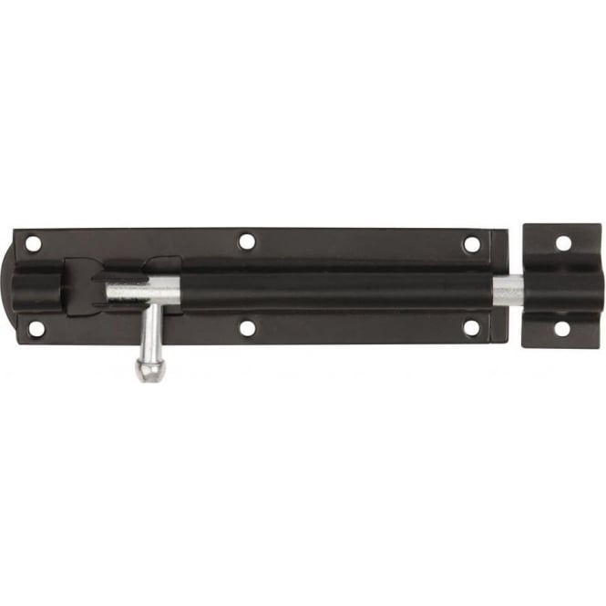 Dale Hardware Black 300mm Straight 923A Tower Bolt