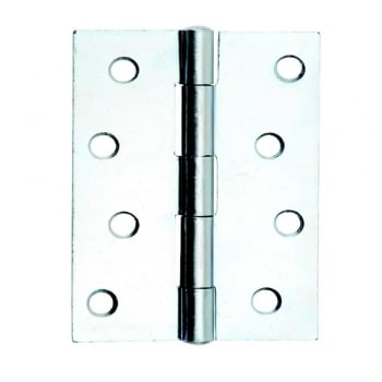 Bright Zinc Plated 1838 Fixed Pin Butt Hinge (Pair)