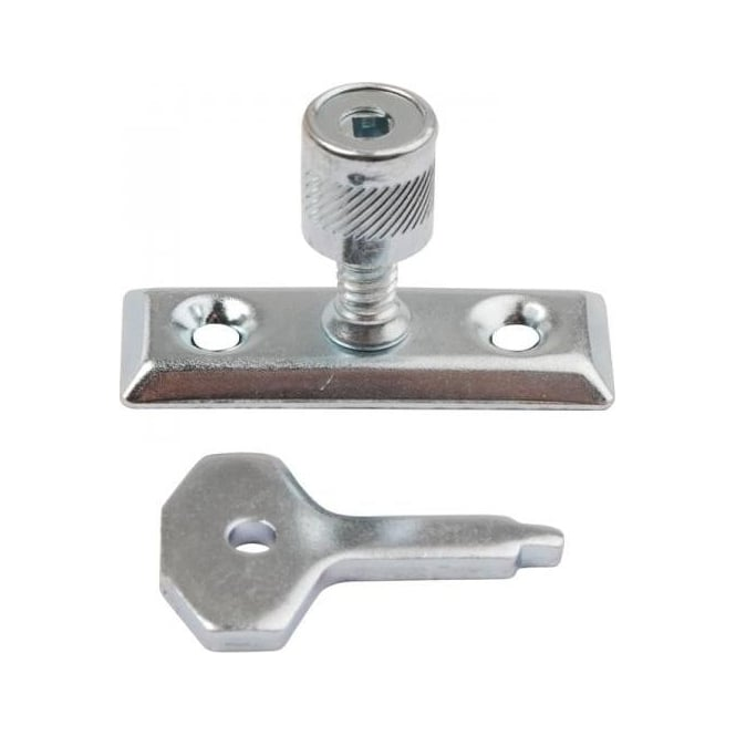Dale Hardware Bright Zinc Plated Window Stay Lock (Pair)