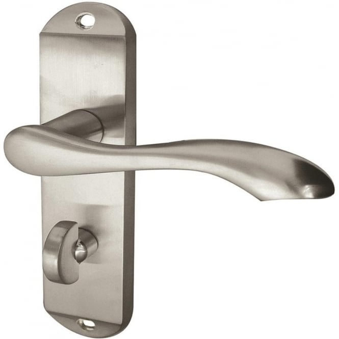 Frelan Hardware Broadway JV922SC Satin Chrome Bathroom Lever On Backplate Handle
