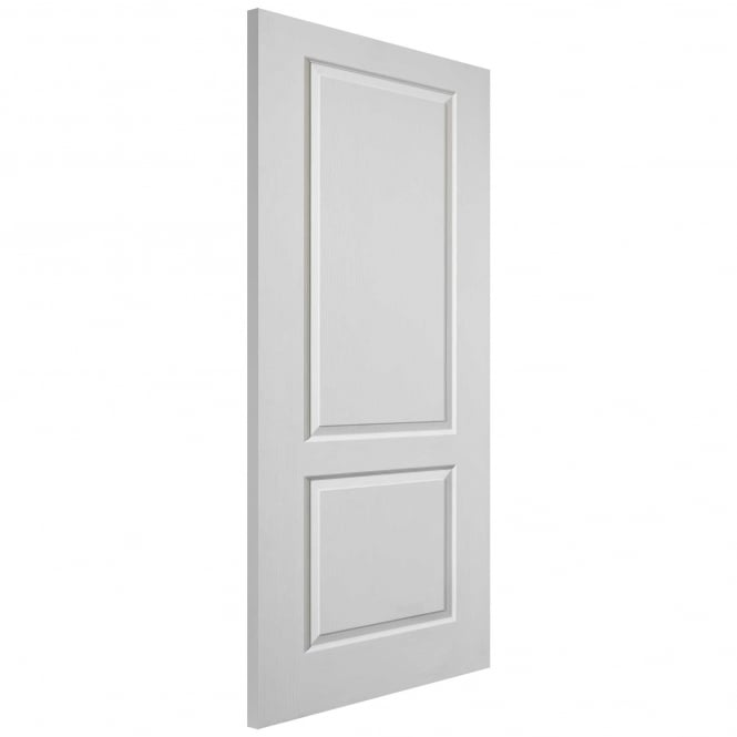 WoodDoor+ Caprice 2 Panel White Moulded Internal Door