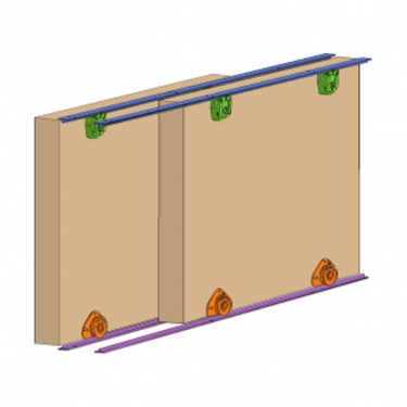 Cello Wardrobe/Cupboard Sliding Door System
