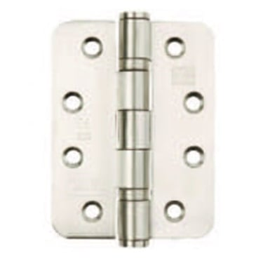 102mm (4'') Radiused Ball Bearing Hinge CE13 Fire Rated Satin Stainless Steel (Pair) (XL00835R)