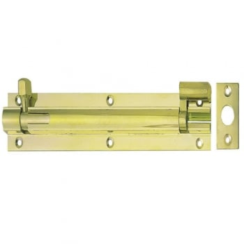 Dale Hardware 152mm x 25mm Polished Electro Brass Necked Barrel Bolt