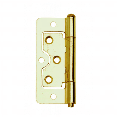 75mm (3'') Brass Plated Flush Hinge Pair (DX40508)