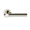 Astro Satin Nickel Lever On Round Rose Handle (DH003610) - Passage Handle (Pair)
