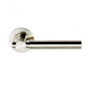 Dale Hardware Astro Satin Nickel Lever On Round Rose Handle