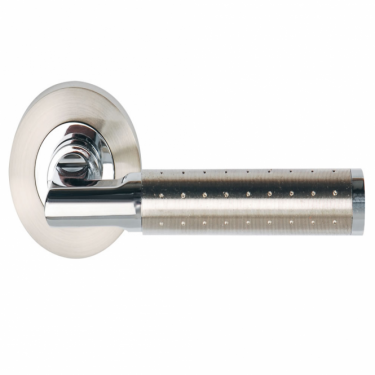 Aura Polished Chrome/Satin Nickel Lever On Round Rose Handle (DH003620)