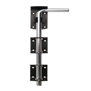 Black 1260L Garage Door Drop Bolt