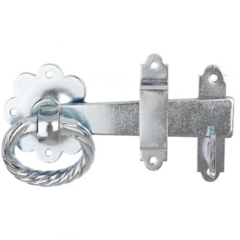 Dale Hardware Bright Zinc Plated 1137 Twisted Ring Gate Latch (DH001186)