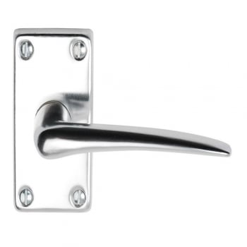 Dale Hardware Lindale Polished Anodized Aluminium Lever On Backplate Handle