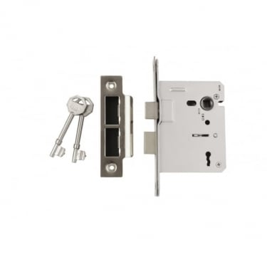 Nickel Plated 3 Lever Mortice Sash Lock