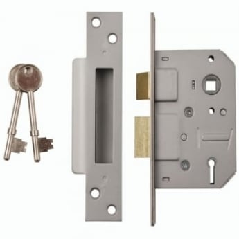 Dale Hardware Nickel Plated 5 Lever Mortice Sash Lock