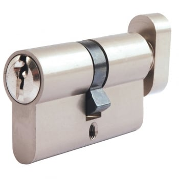 Dale Hardware Nickel Plated Euro Cylinder & Turn (DH003002)