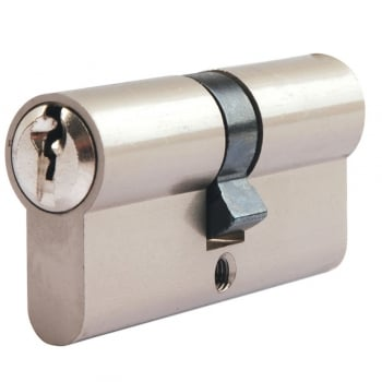 Dale Hardware Nickel Plated Euro Double Cylinder