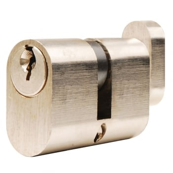 Dale Hardware Nickel Plated Oval Cylinder & Turn